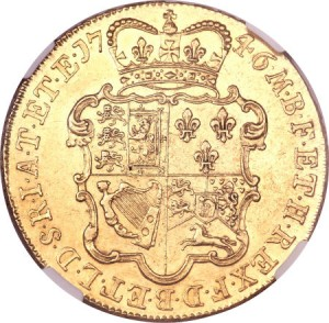 George II gold 5 Guineas 1746-LIMA2