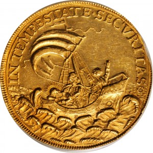HUNGARY. 10 Ducat, ND (1645-90). Kremnitz Mint. 2