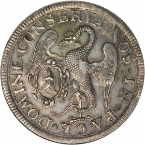 SWITZERLAND. Basel. 2 Taler, 1741. NGC EF-452